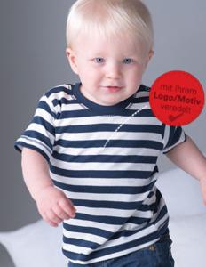 Baby T-Shirt gestreift mit Firmenlogo