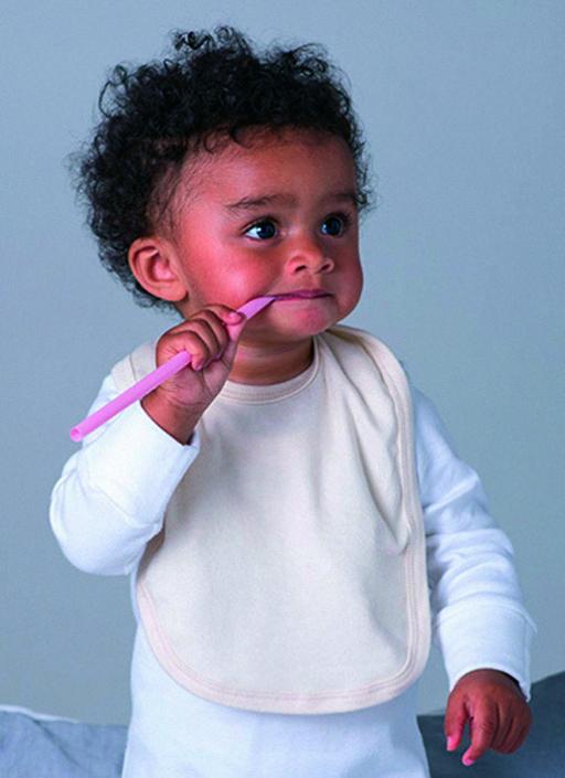 Babylätzchen aus Biobaumwolle mit Logo