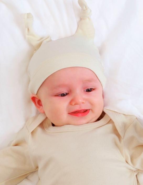 Babymütze mit Firmenlogo - Organza