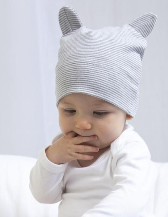 Babybekleidung mit Firmenlogo - Babymütze Ohren