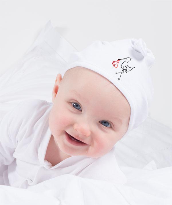 Babymuezte mit Firmenlogo
