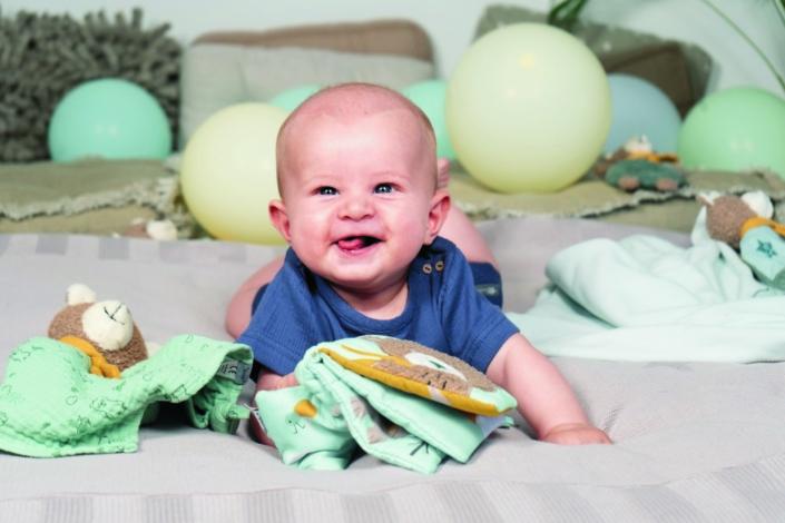 Baby Schmusetuch mit Firmenlogo