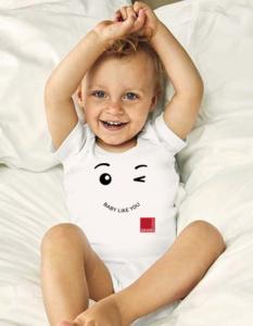 Baby body mit Logo